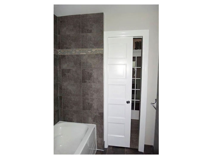 Tile shower walls