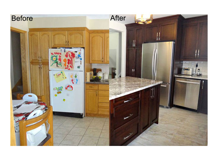 Before & after kitchen
