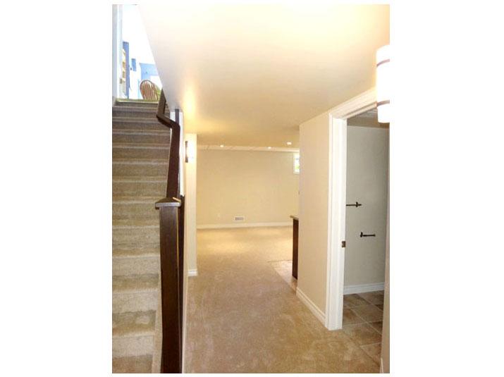 Plush carpet stairs