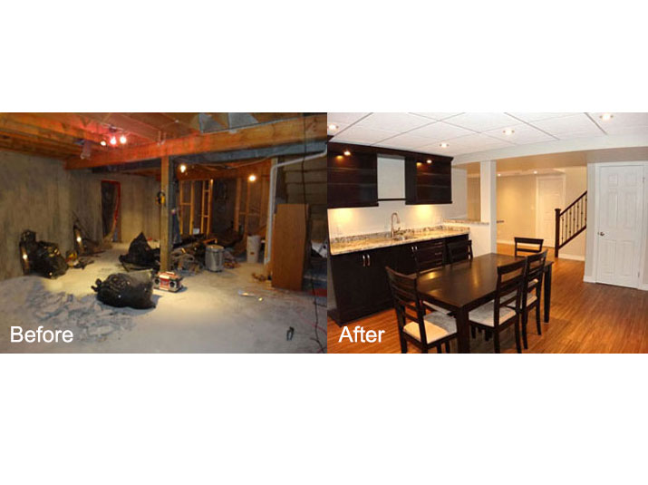 Before & after basement
