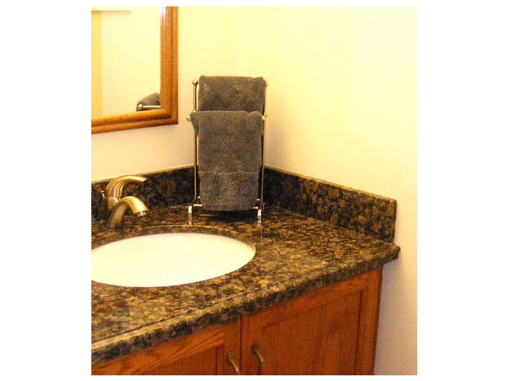Powder room vanity granite top