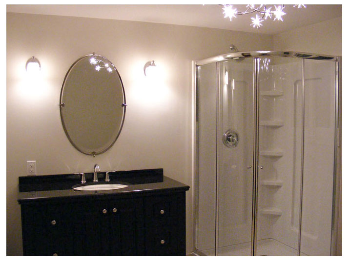 Bathroom vanity & shower