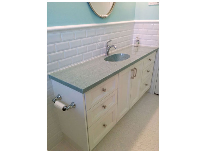 Custom bathroom vanity marble top