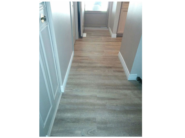 Hallway with vinyl plank flooring