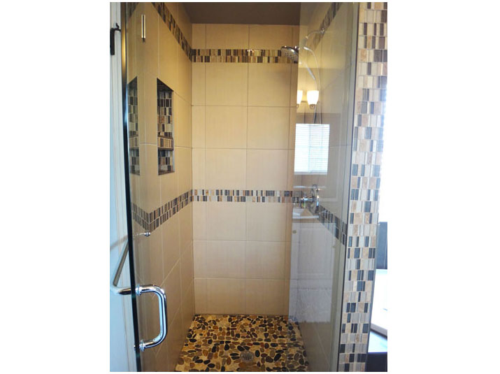 Mosaic tile in shower design
