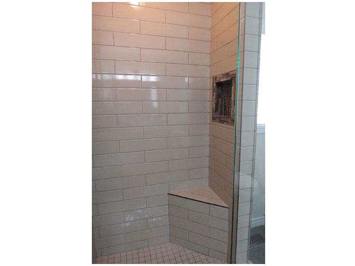 Shower corner bench