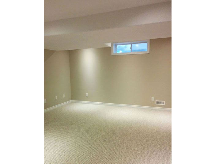 Basement with California texture ceiling