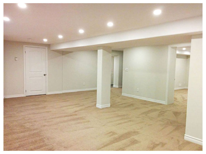 Open concept basement