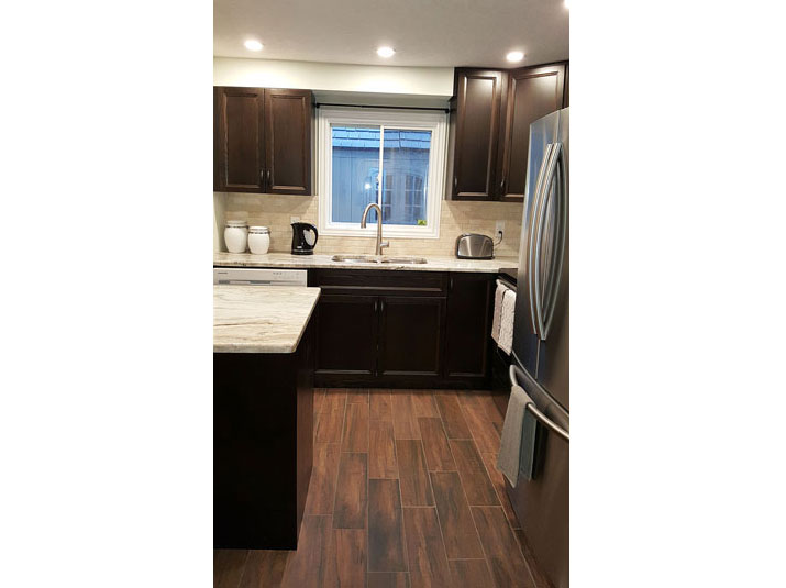 Wood Plank porcelain kitchen floor