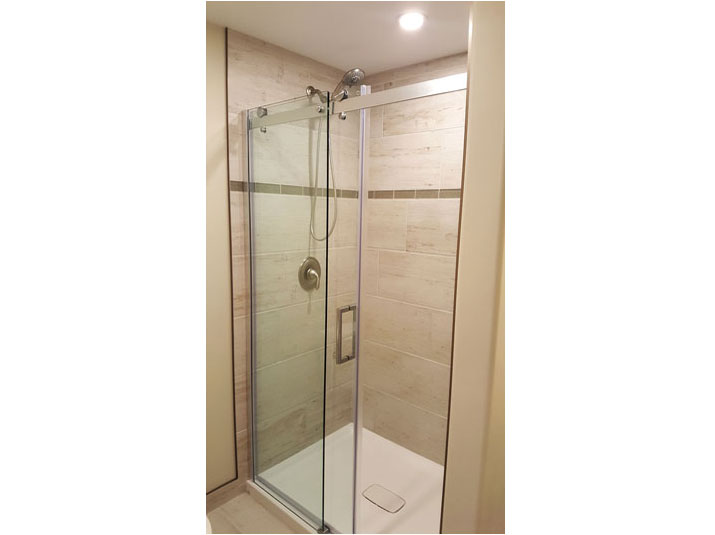 Glazed Porcelain Subway Tile Shower