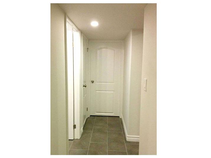 Dark gray glazed porcelain tile floor