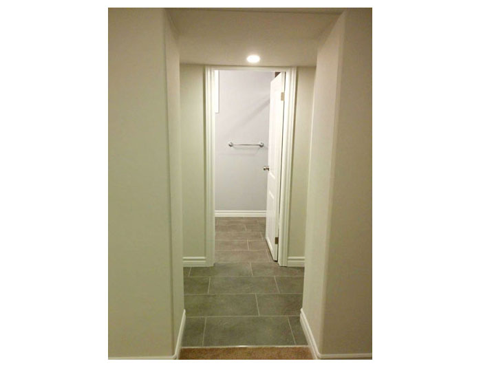 Hallway to bathroom