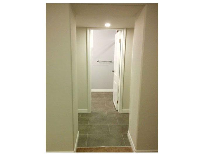 Hallway to bathroom