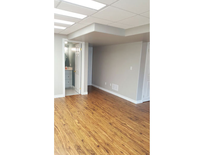 Laminate flooring in basement