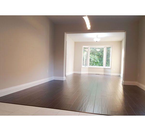 Dining room with engineered wood flooring