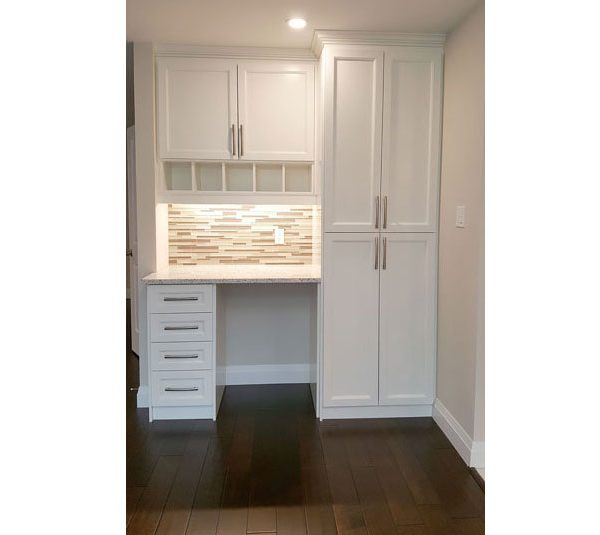 Kitchen pantry with desk