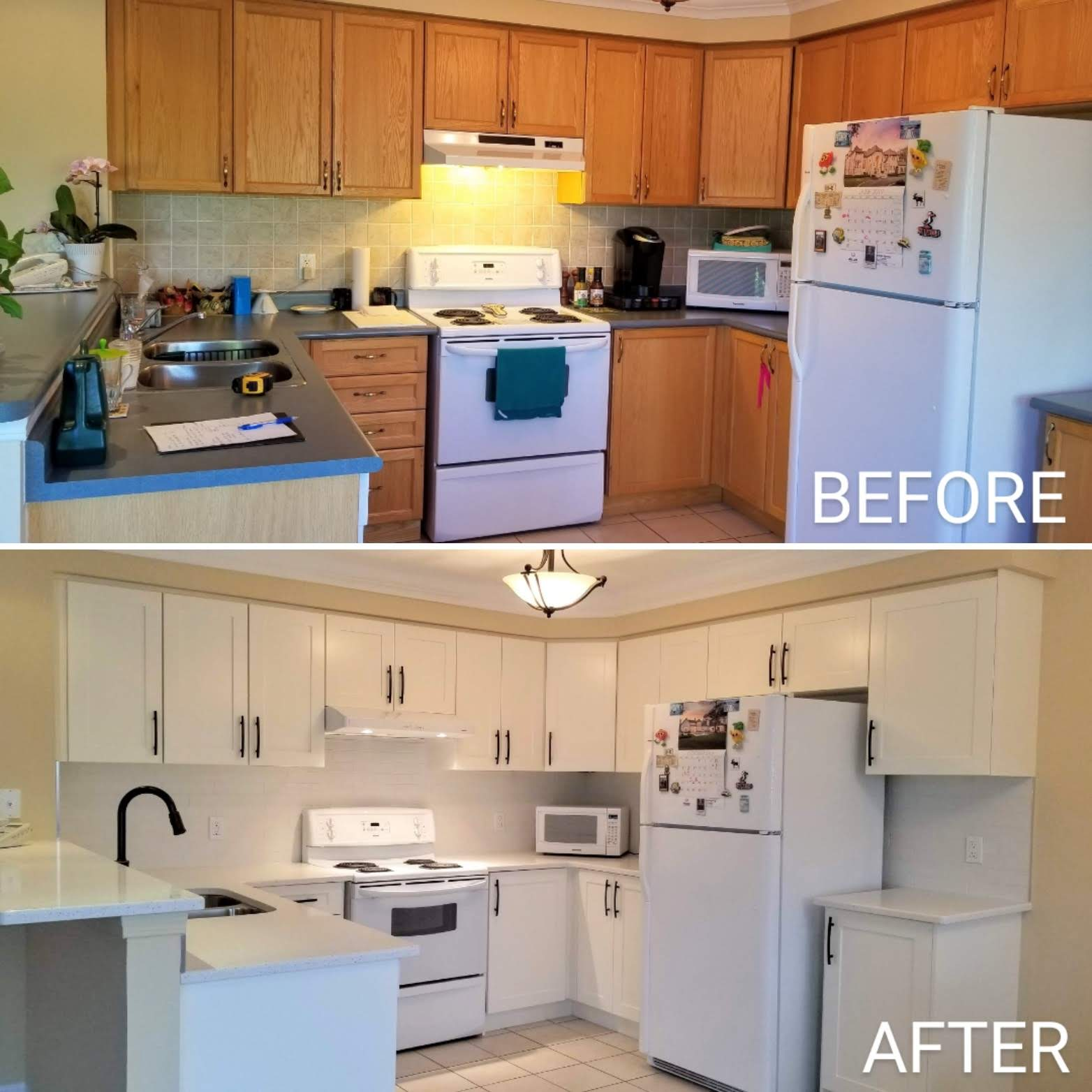 Before and after kitchen upgrade