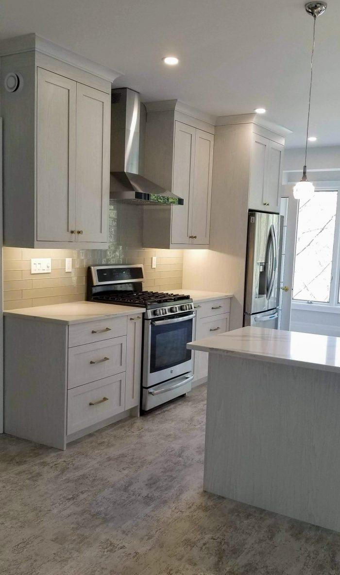 Upgraded white kitchen