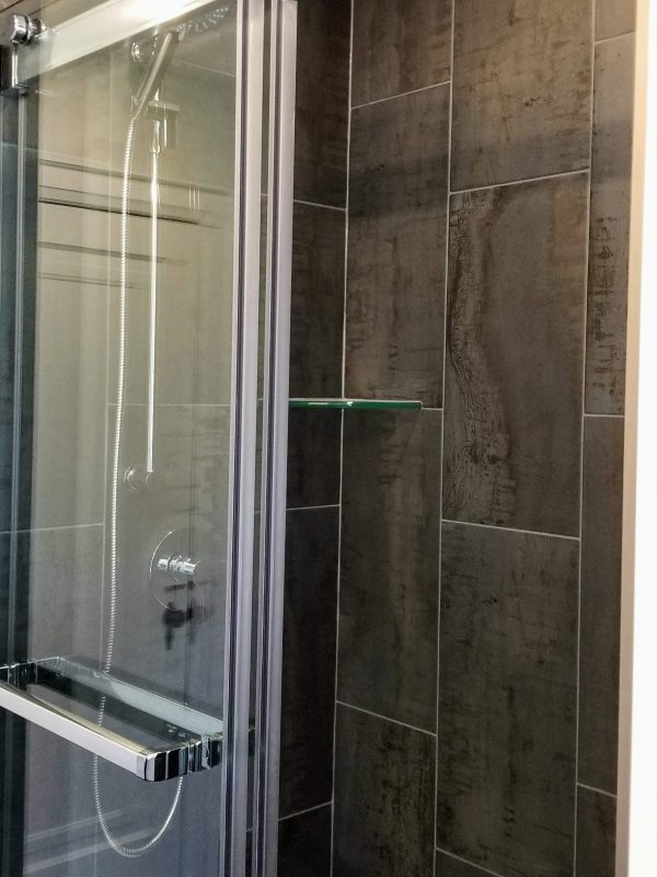 Twilight blue shower tile