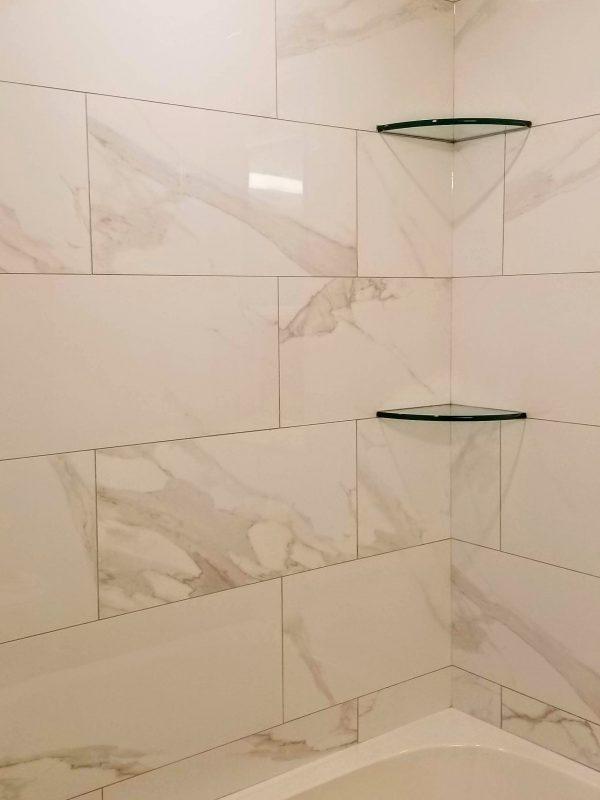 Glossy marble porcelain tile