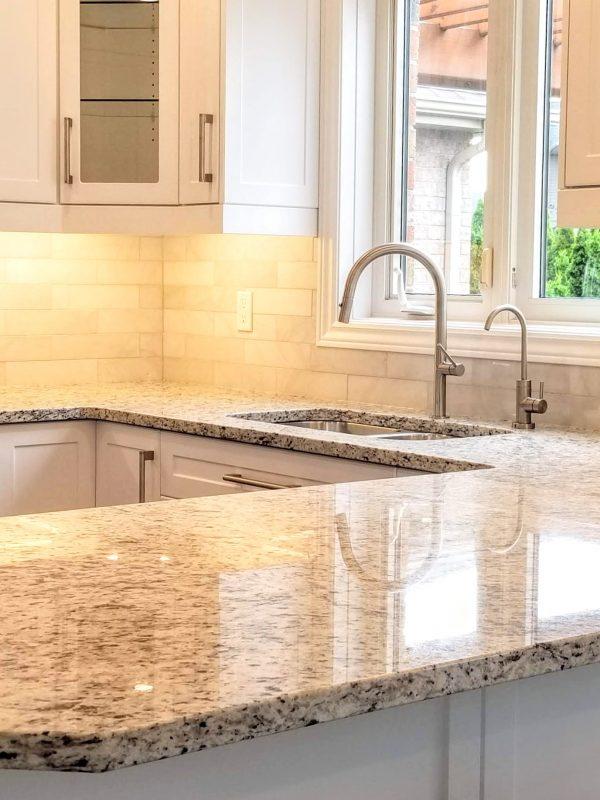 White granite countertops