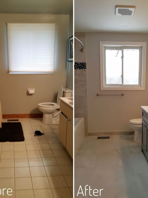 Before and After Bathroom Flooring