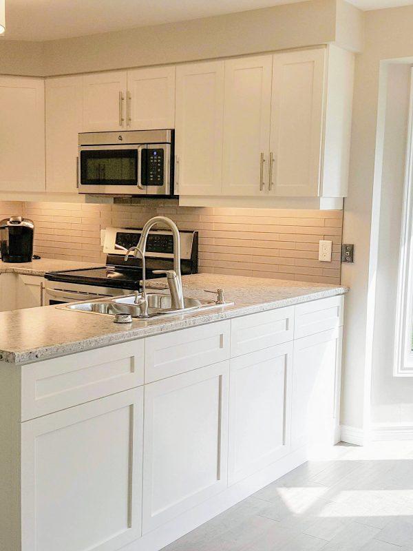 White and Grey Kitchen Renovation