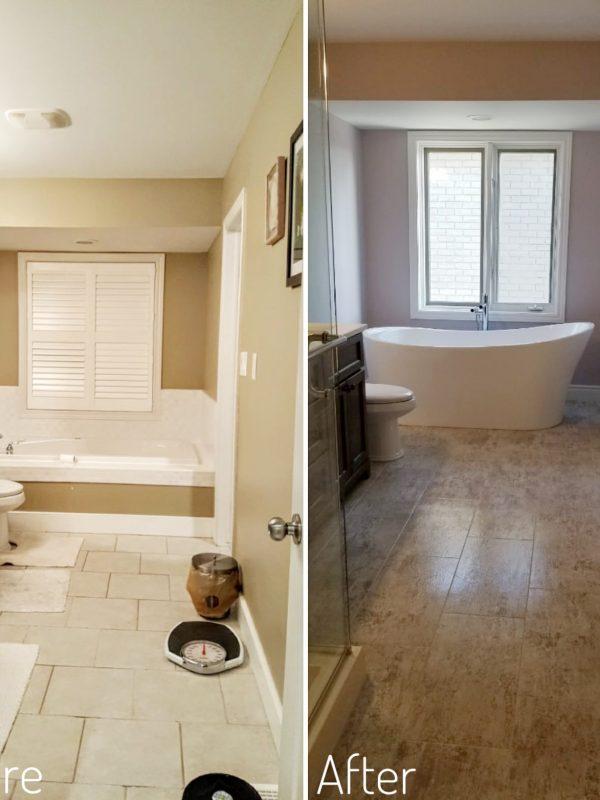 Before and After En-Bathroom Renovation