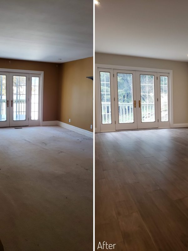 Before and After Master bedroom