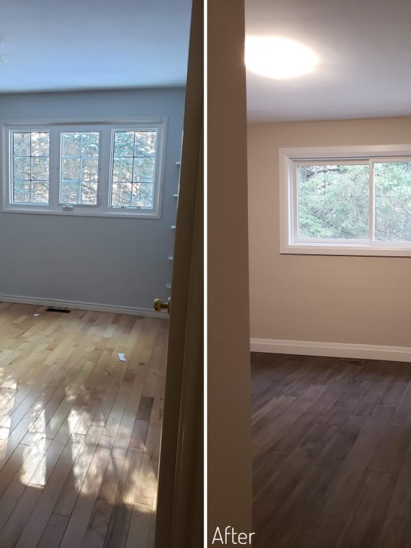 Before and After Second bedroom