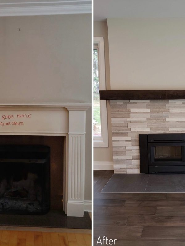 Before and After fireplace