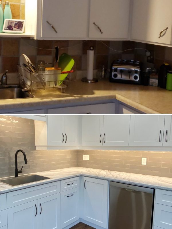 Before and After kitchen countertops