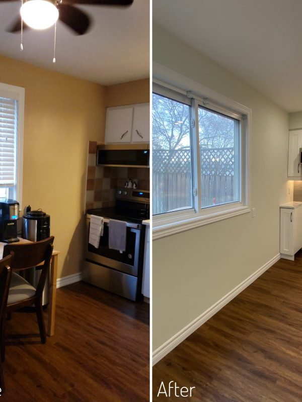 Before and After kitchen walls
