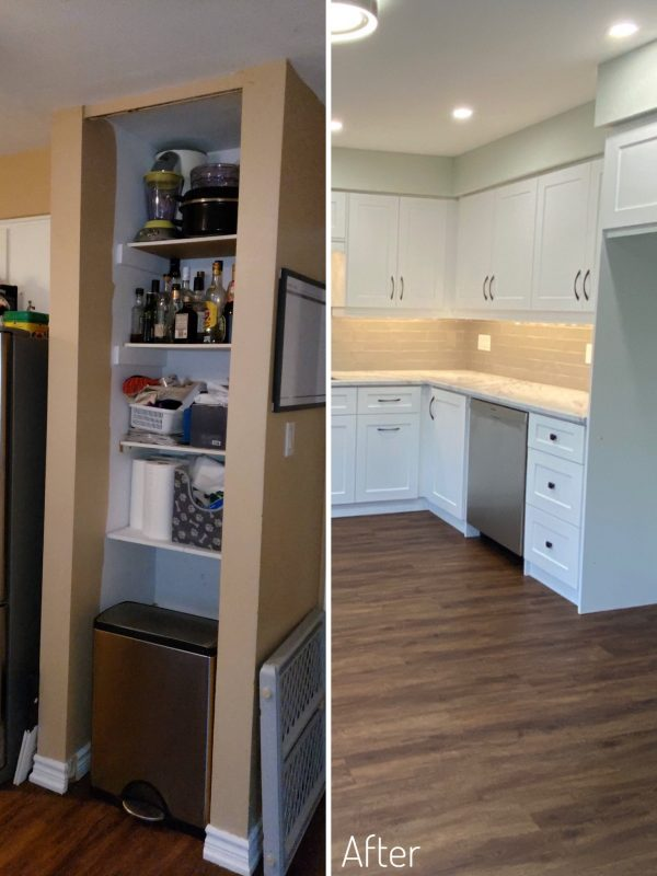 Before and After fridge layout