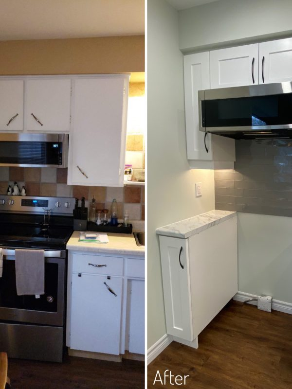 Before and After Oven layout