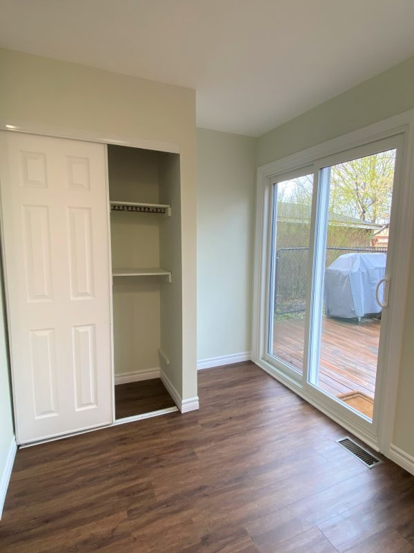 Closet in kitchen painted with fresh coat
