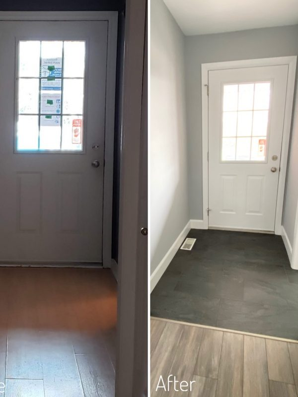 Entryway Before and After