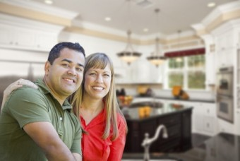 Couple in custom kitchen