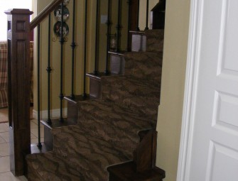 Stair and railing