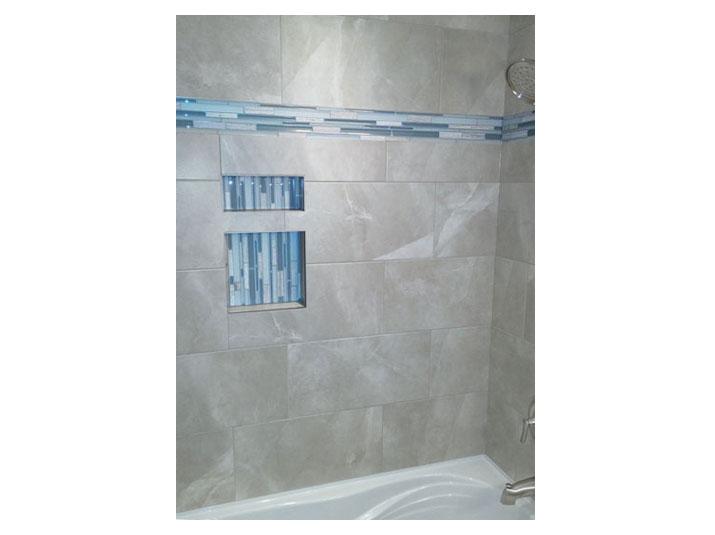 Tile shower walls