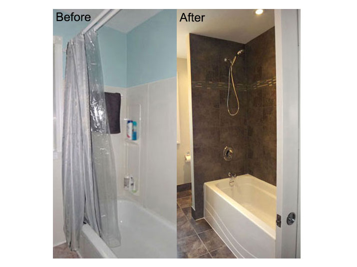 Before & after shower
