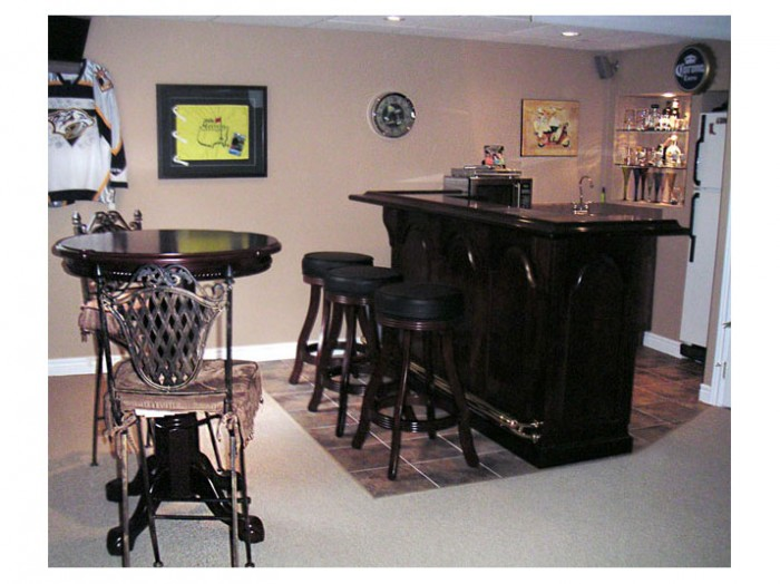 Basement walk-up bar