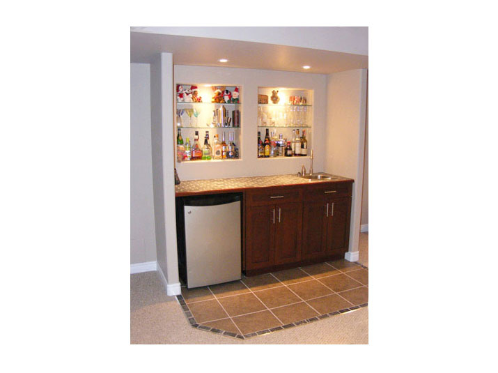 Basement walk up bar