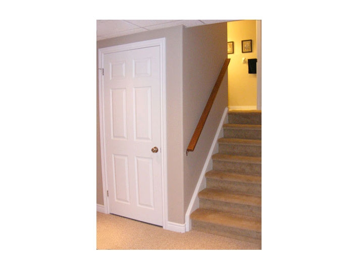 Basement stairs & storage closet