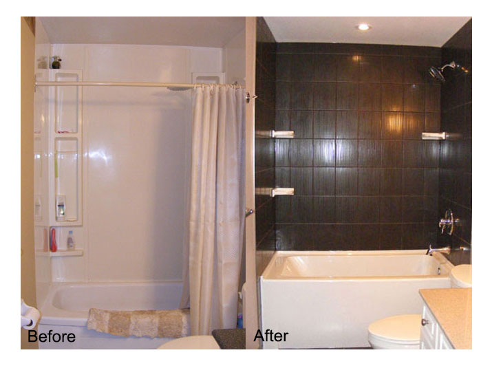 Before & after bathtub/shower
