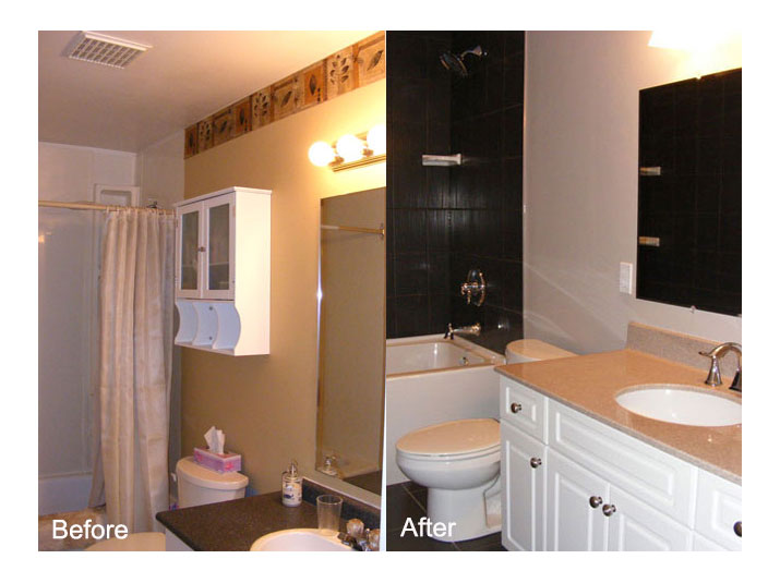 Before & after bathroom