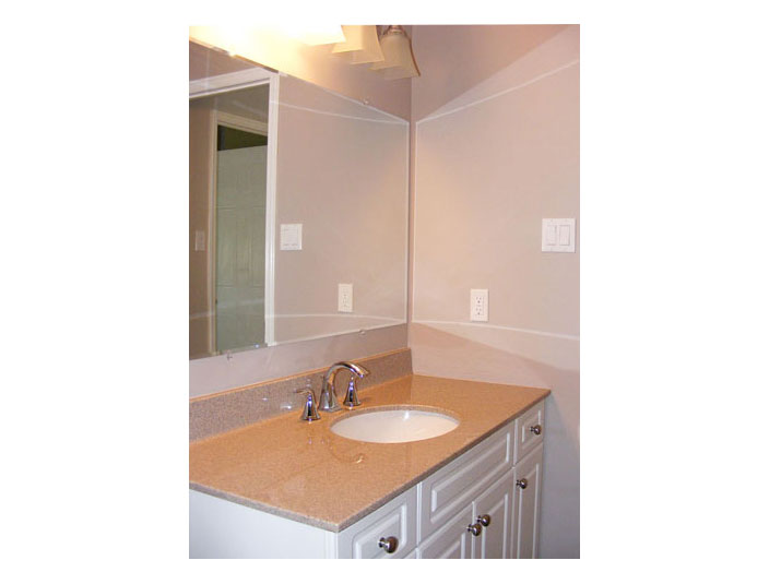 Bathroom vanity with granite countertop