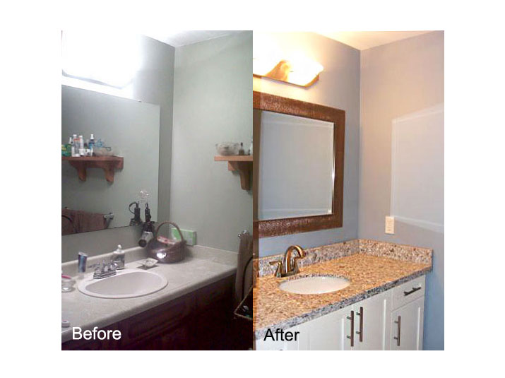 Before & after bathroom vanity