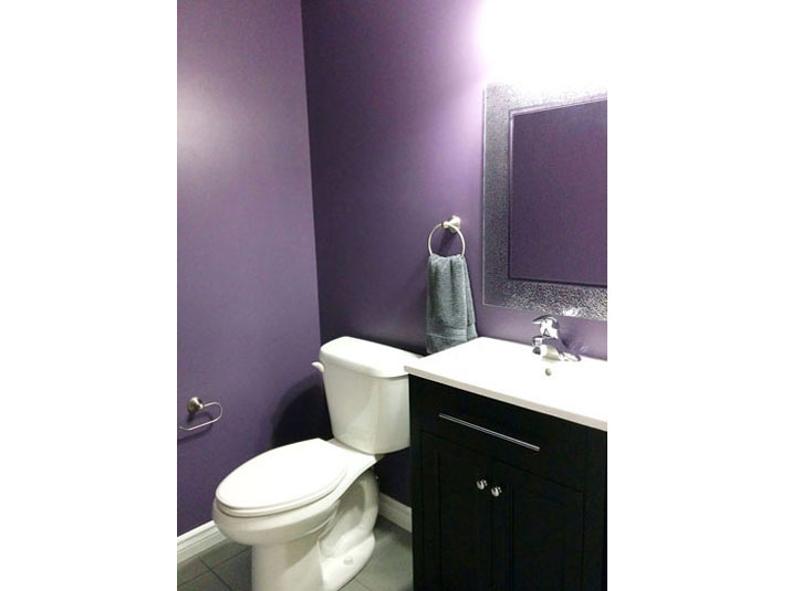 Purple bathroom