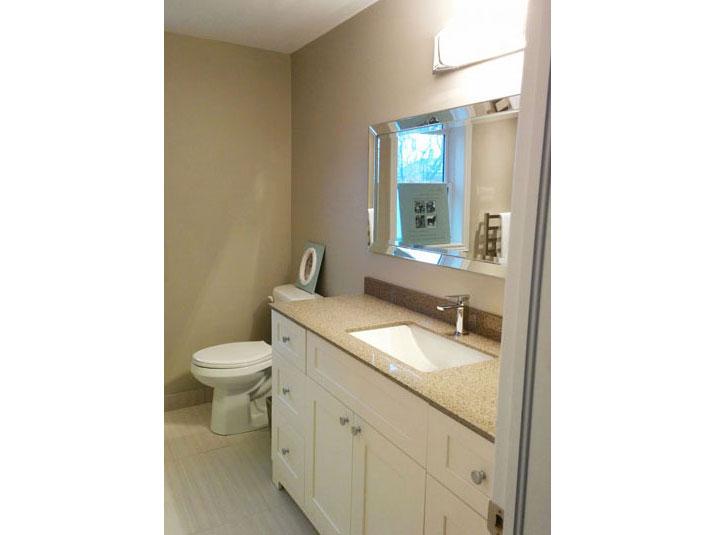 White vanity base